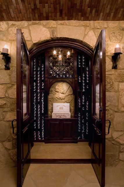 Malinard Manor - Wine Cellar - Traditional - Wine Cellar - Austin - by Cravotta Interiors