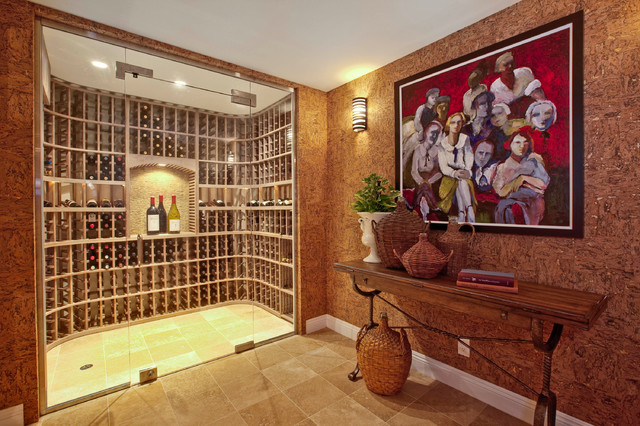 Manhattan Beach Hill Section Interior Design Traditional Wine Cellar Los Angeles By