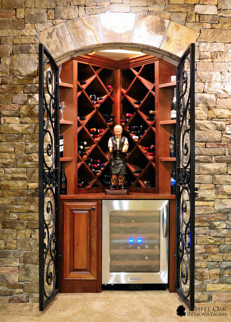 Manor Golf and Country Club Basement Remodel traditional wine cellar