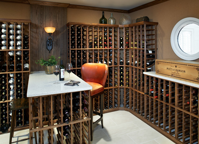 contemporary wine cellar by Terrat Elms Interior Design