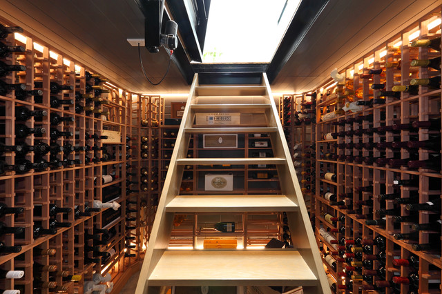 contemporary wine cellar by jessop  architects