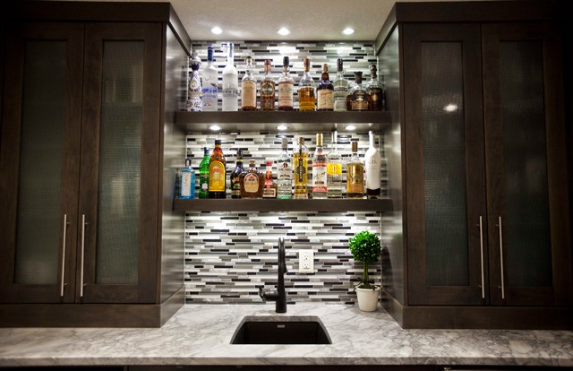 May Basement Renovation - Transitional - Wine Cellar - Calgary - by Urban Abode