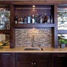Meadowview Lane Residence Bar 4 contemporary-wine-cellar
