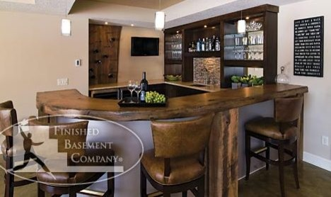 Meadowview Lane Residence Bar contemporary wine cellar