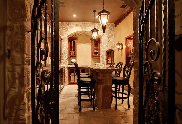 Bedroom transformed to wine cellar - Mediterranean - Wine Cellar ...