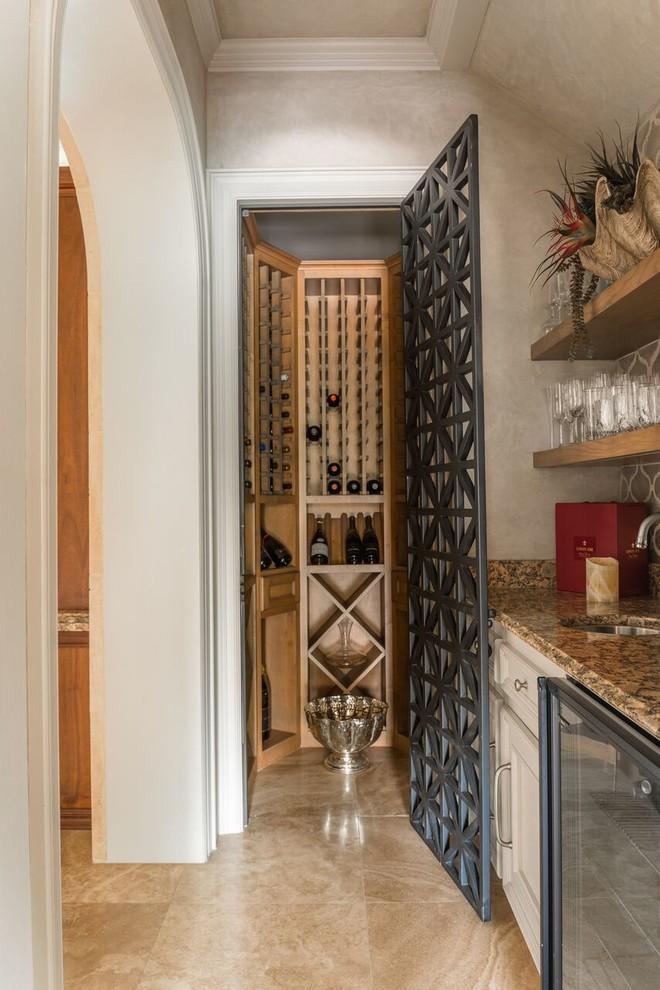 Oak Estates Rustic Contemporary - Contemporary - Wine ... |Wine Cellar Houston
