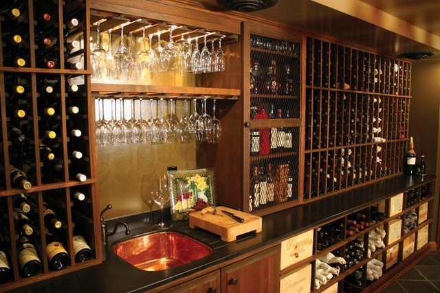 MICHAEL MOLTHAN LUXURY HOMES BARS AND WINE ROOMS Traditional Wine Cellar