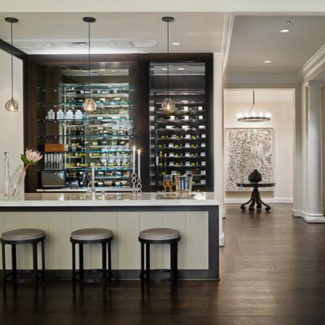 Michael molthan luxury homes interior design group modern wine cellar dallas by michael - Luxury home bar designs ...