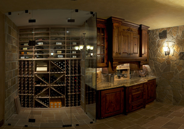 mike debrah 39 s basement traditional wine cellar