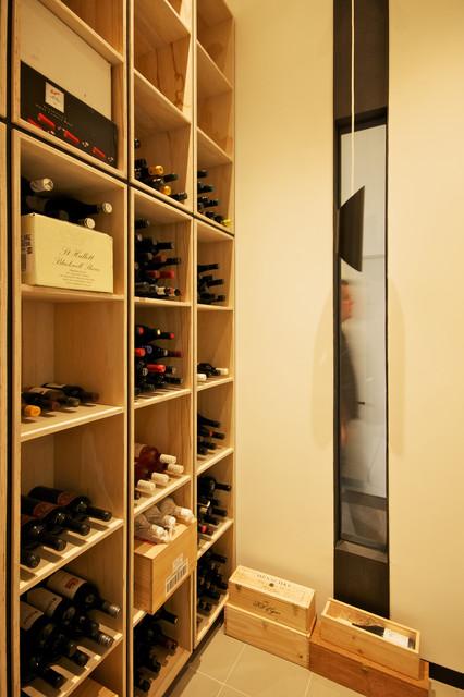 Mill Street House contemporary-wine-cellar
