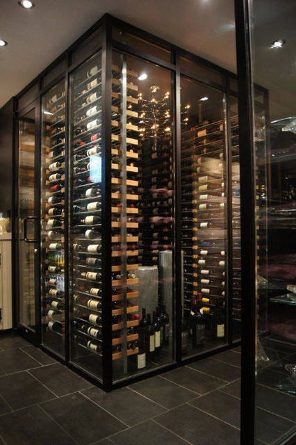 Millesime Racks In The Wine Cellar 7 Contemporary Montreal By