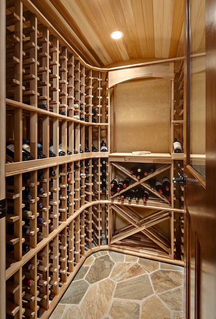 Minnetrista basement traditional wine cellar for Small basement wine cellar