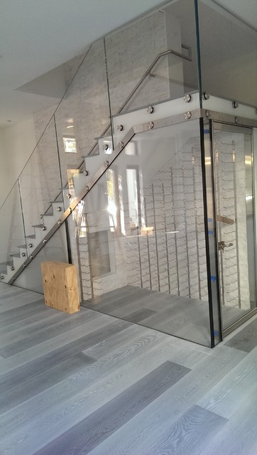Modern All Glass Wine Room