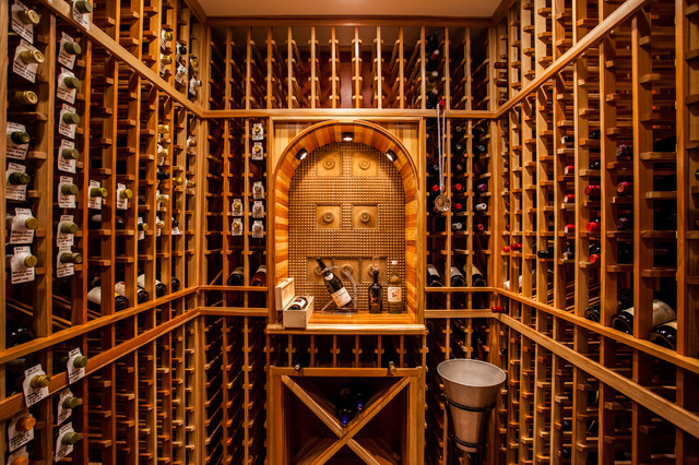 Modern and Youthful Wine Cellar in Clifton VA ...