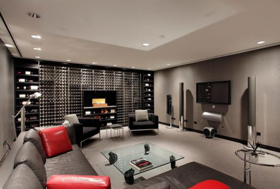 Modern Home contemporary-wine-cellar