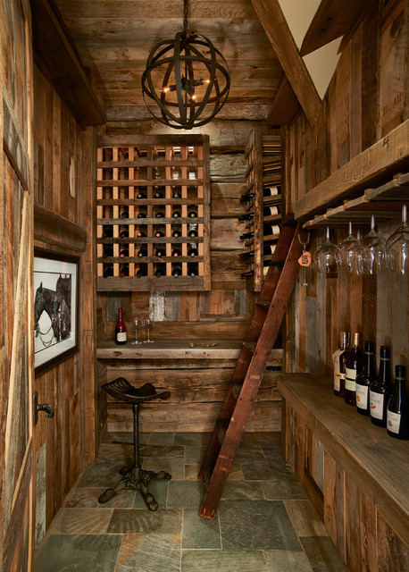 Modern Rustic Retreat Rustic Wine Cellar Denver By