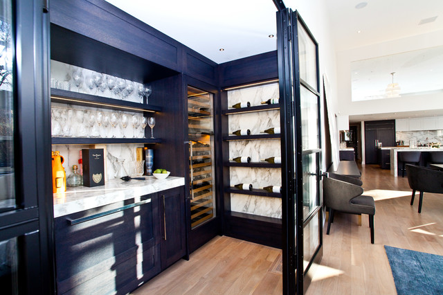 Modern Toronto Home Transitional Wine Cellar