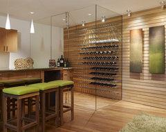 Modern Wine Cellar contemporary-wine-cellar