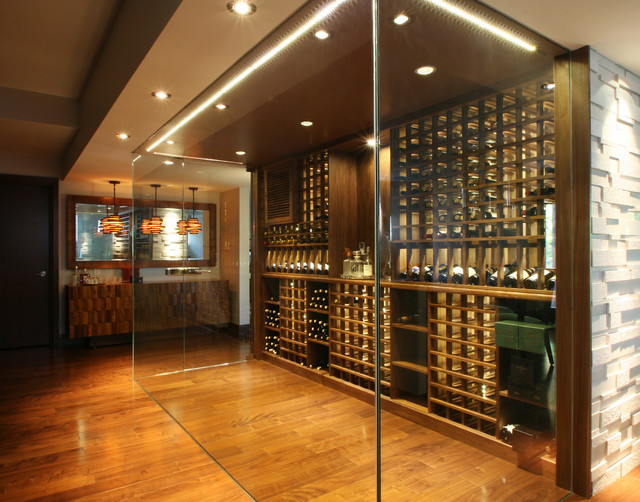 Modern wine cellars by papro consulting modern wine for Wine room ideas