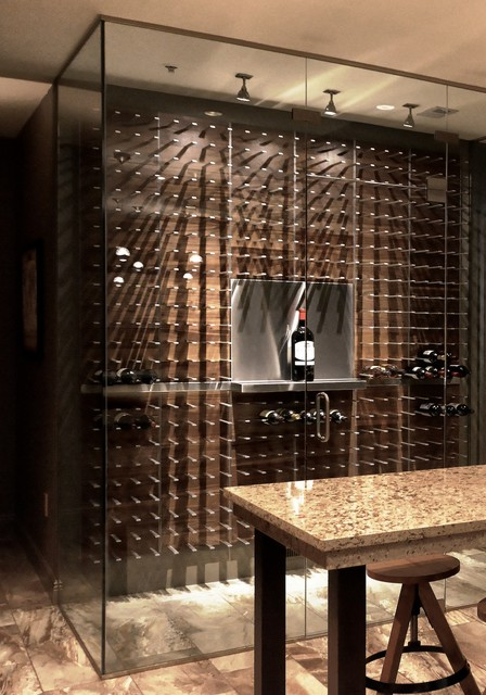 Modern Wine Storage Design - STACT Modular Wine Wall System - Modern - Wine Cellar - vancouver ...