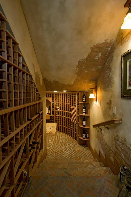 Moore Residence mediterranean-wine-cellar