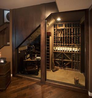 More Than Man Cave Basement Development Eclectic Wine Cellar Calgary Malbec Homes