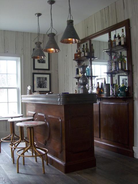 New Canaan custom farmhouse - interiors farmhouse-wine-cellar