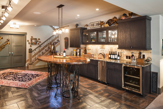 New London Road transitional-wine-cellar & New London Road - Transitional - Wine Cellar - Cincinnati - by High ...