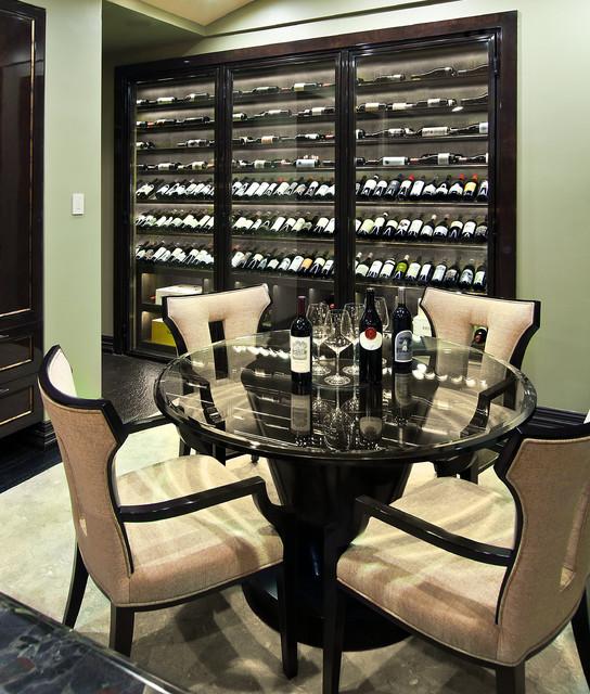 Newport Coast Custom contemporary-wine-cellar