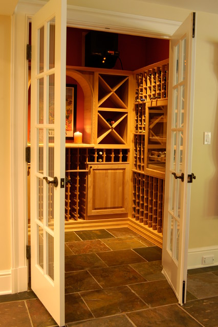 Nod Hill Road traditional-wine-cellar