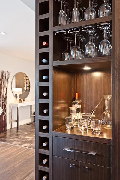 North Vancouver- Wine Cellar, Bar, Open shelving, Modern ...