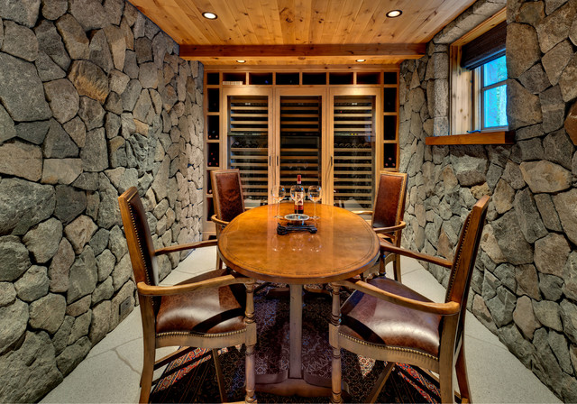 Old Tahoe House Rustic Wine Cellar Sacramento By