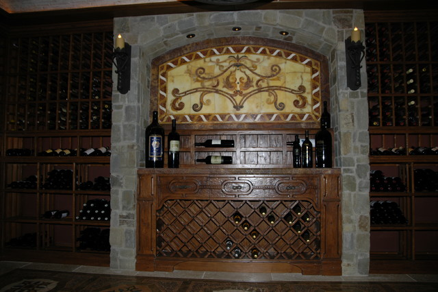 Old World Style Mediterranean Wine Cellar Orange