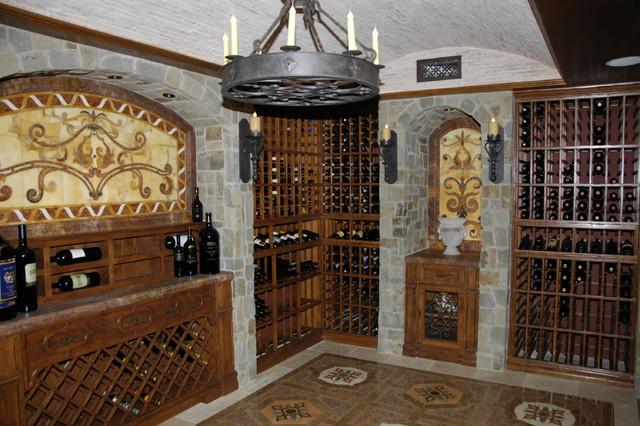Old World Style Mediterranean Wine Cellar Orange