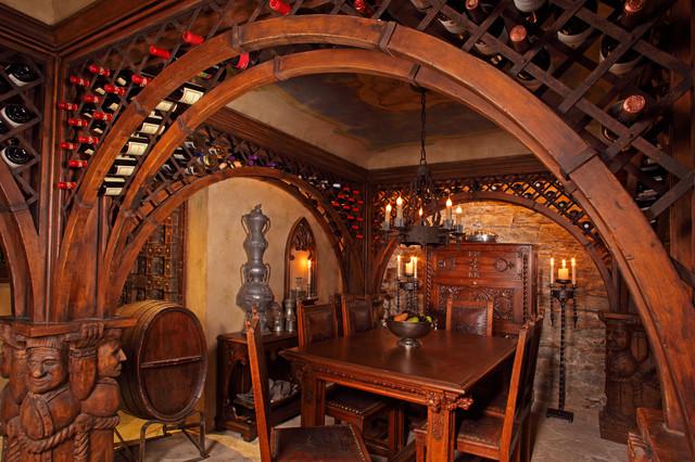 Ornate Wine Cellar Eclectic Wine Cellar Minneapolis