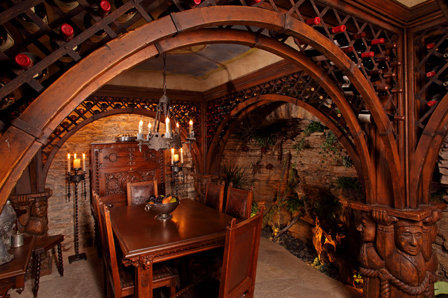 Ornate wine cellar eclectic wine cellar minneapolis for Building wine cellar