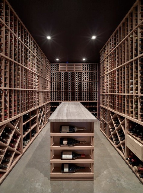 Pacific Heights Residence Transitional Wine Cellar San Francisco By Devlin Mcnally
