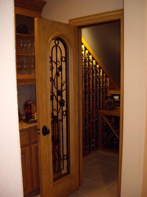 Closet Custom Wine Cellar Entryway Traditional Wine