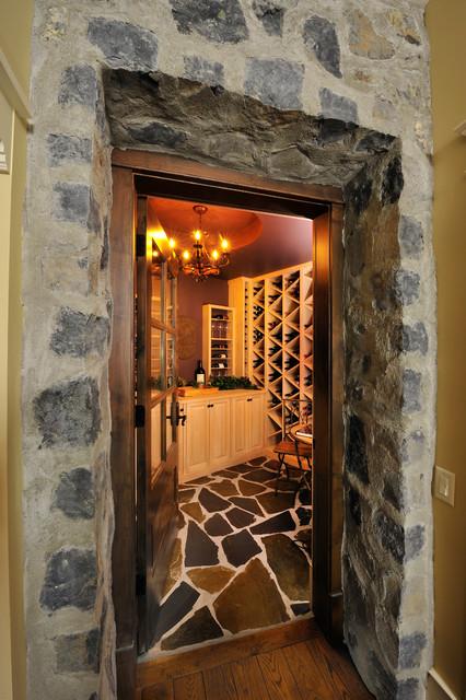 PETTI RESIDENCE . KELOWNA. BC eclectic-wine-cellar