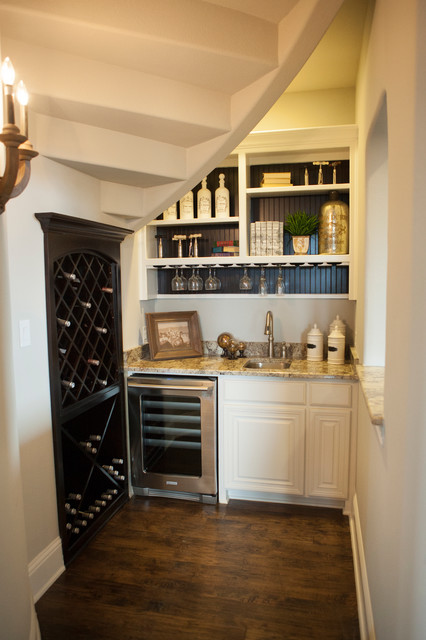 Phillips creek ranch shaddock homes traditional wine for Kitchen designs under stairs