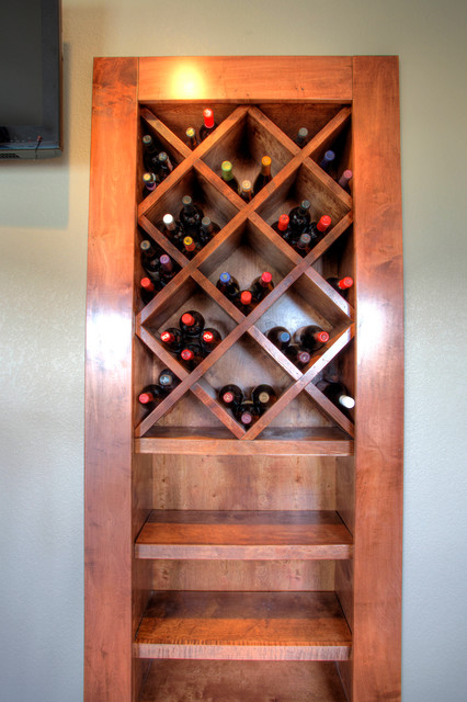 Pradera Basement Finish Rustic Wine Cellar Denver