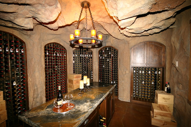 Priest Creek eclectic-wine-cellar