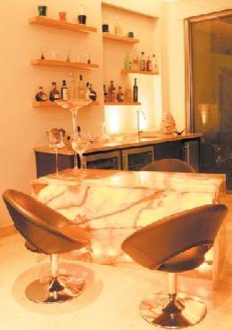 Private House in South America modern-wine-cellar