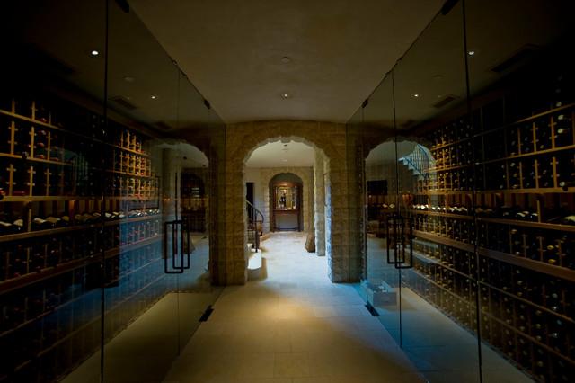 Private Residence Wine Cellar mediterranean-wine-cellar