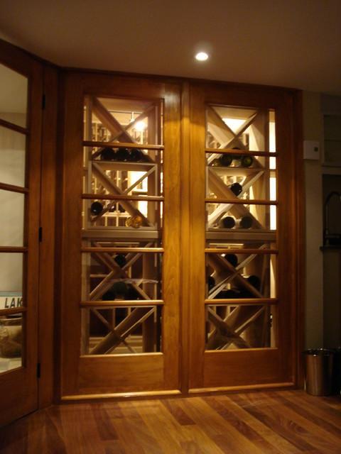 Private wine cellar contemporary-wine-cellar