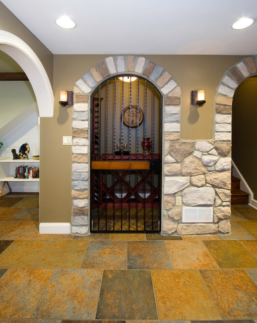 Pub-inspired Basement Remodel & Theatre Room - Mechanicsburg, PA traditional-wine-cellar