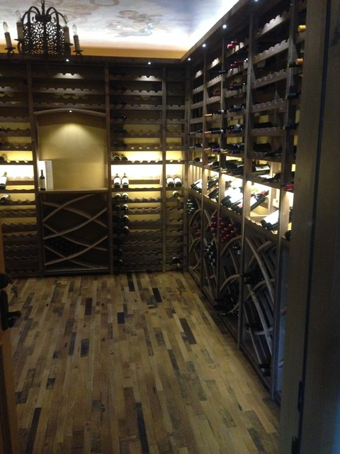 Rancho Santa Fe - Rustic - Wine Cellar - san diego - by Vintage Cellars