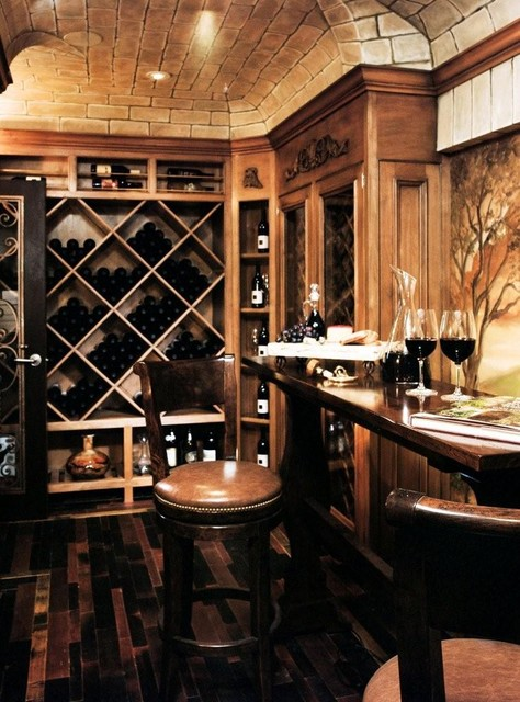Reaume Construction & Design traditional wine cellar