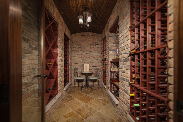Reclaimed Red Brick Basement Wine Cellar