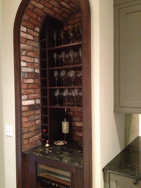 Reclaimed Thin Brick Veneer traditional-wine-cellar